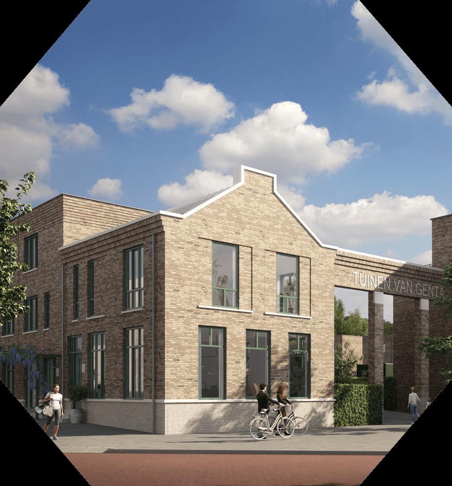 Nieuwbouwproject Breda - Tuinen van Genta - Spoorzone